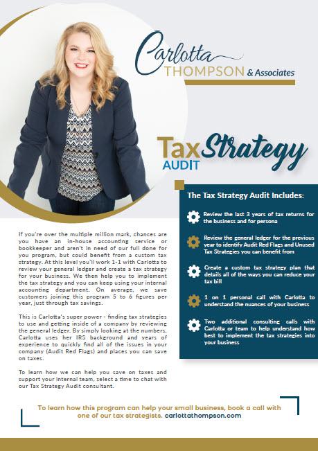 Tax Strategy Audit